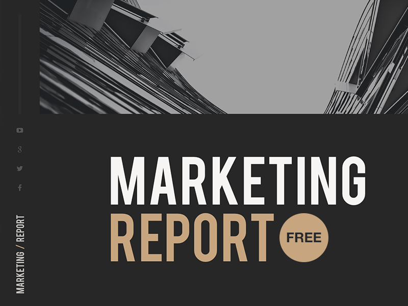 free powerpoint template marketing report by hislide io dribbble