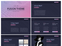 Dribbble all keynote template fusion