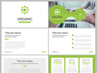 Dribbble2 free powerpoint template organic