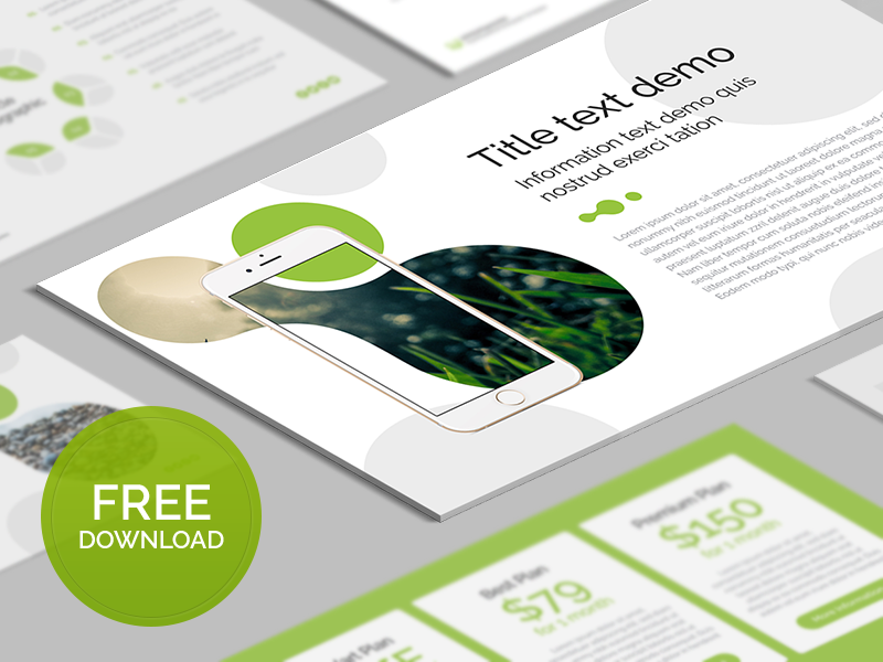 Free PowerPoint template: Organic by hislide.io - Dribbble