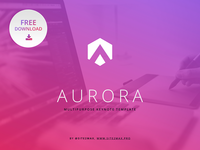 Free Keynote template: Aurora