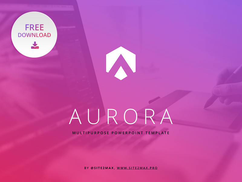 free powerpoint template aurora by hislide io dribbble dribbble