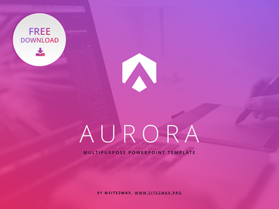 Free powerpoint template aurora by hislide dribbble free powerpoint template aurora toneelgroepblik Image collections