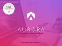Free PowerPoint template: Aurora