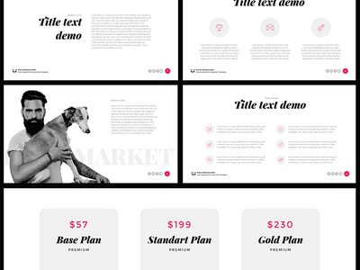 Free PowerPoint template: Modern Report template report presentation pptx ppt powerpoint marketing modern freebies free download business