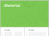 Material free ppt template