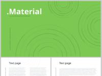 Material free keynote template