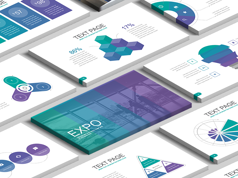 Free PowerPoint template: Expo by hislide io on Dribbble