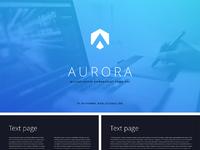 Main aurora2 powerpoint template