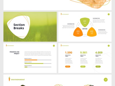 Free Powerpoint Template Environment By Hislide Io On Dribbble