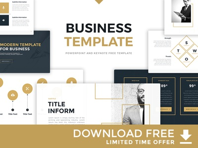 "Free PowerPoint and Keynote Template ""Business Template"""