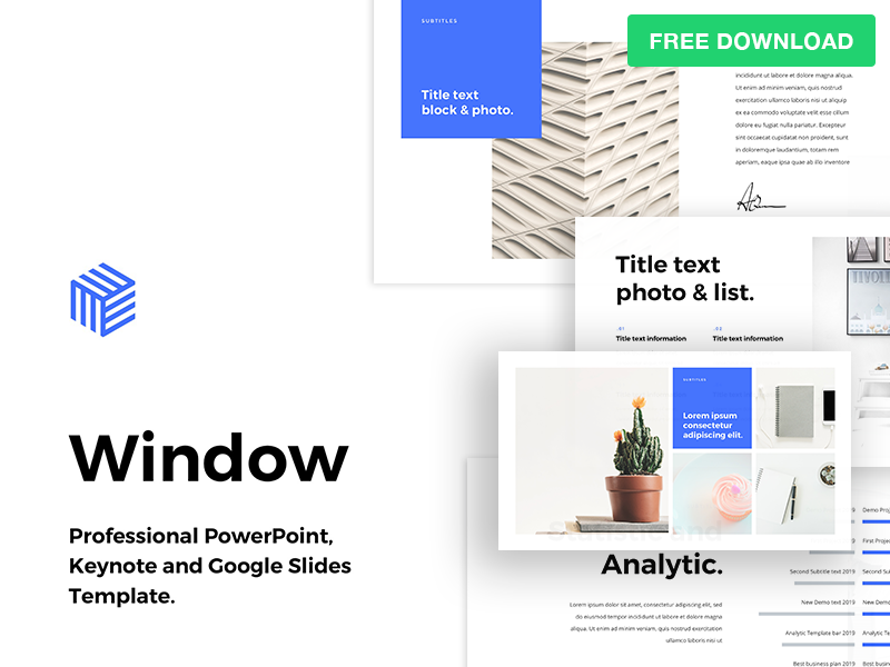 Free Powerpoint Template Window By Hislide Dribbble Dribbble