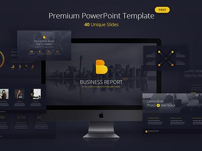 [Free] Business Report PowerPoint template vol. 1 multipurpose slides slide report business template presentation powerpoint pptx freebie free