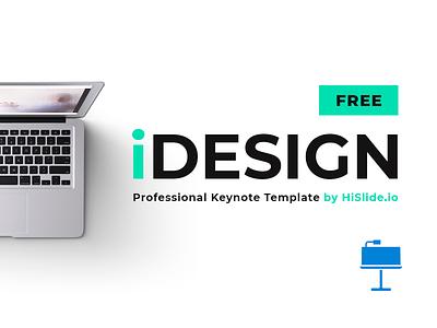 iDESIGN Free Keynote Template download modern minimal freebies freebie free infographic slide template key keynote