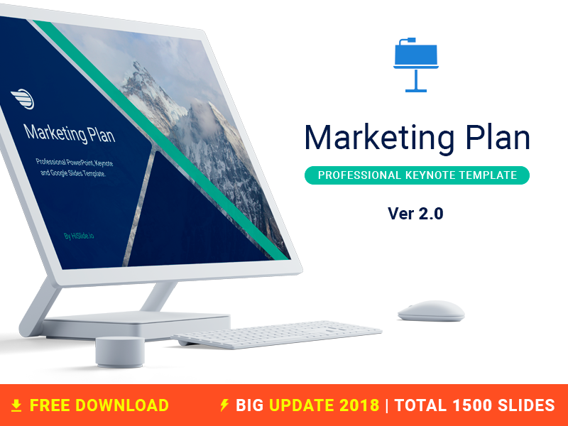 Marketing Plan Free Keynote template template company business plan marketing report iwork mac keynote download freebies free