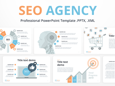 PowerPoint Presentation SEO Agency presentation template slide download pptx powerpoint startup it company agency report seo