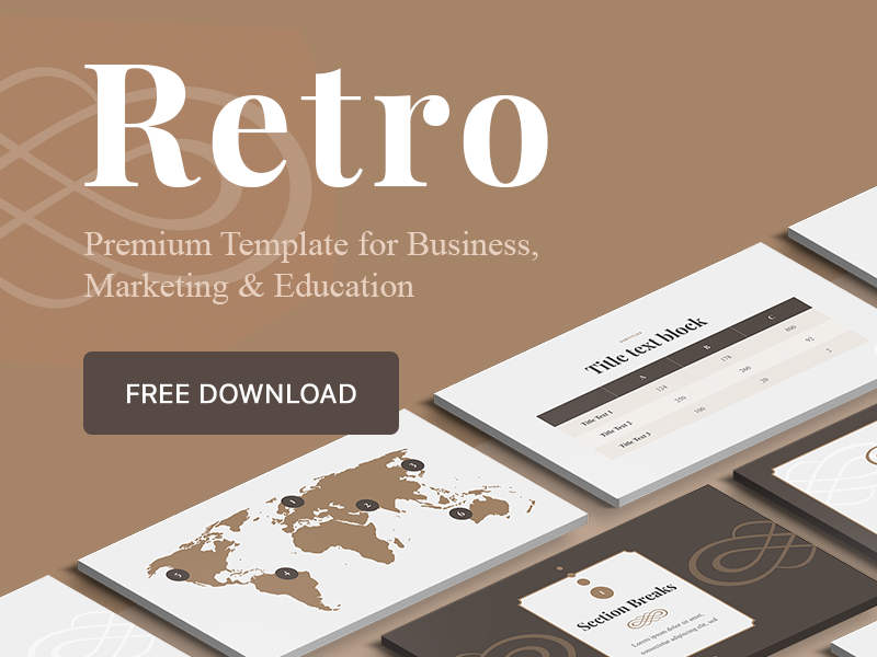 free retro powerpoint keynote google slides template by hislide