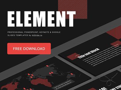 """Element"" Free PowerPoint and Keynote template download report keynote key pptx startup freebie pattern powerpoint business marketing element template freebies presentation free"
