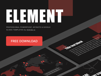 """Element"" Free PowerPoint and Keynote template"
