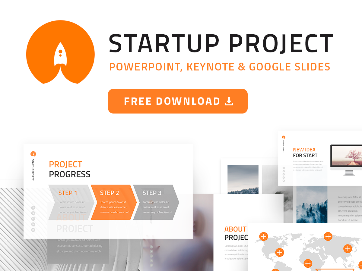 FREE] Startup Project PPT Template by hislide io on Dribbble