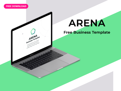 """[Free] Business Template """"Arena"""" modern key slides infographic corporate freebie slide report startup ppt pptx keynote powerpoint download business marketing freebies template presentation free"""