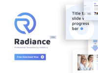 "[Free] ""Radiance"" Presentation Template slides freebies download key report template startup marketing business freebie free presentation design presentation pptx google slides keynote powerpoint ppt"