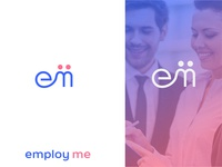 Employ Me Logo For Recruitment Business ( letter concept )