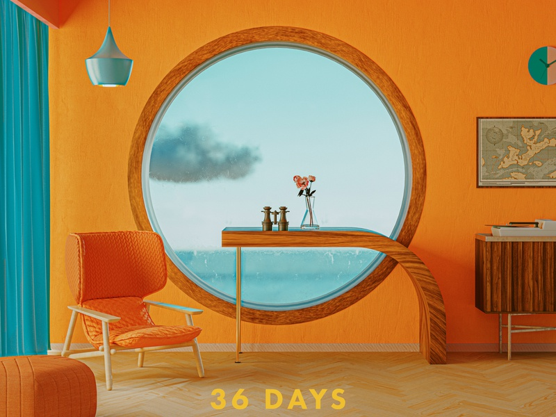 Q - 36 Days of Type 7 36daysoftype07 36daysoftype rushmore grandbudapesthotel lifeaquatic recordplayer binoculars retro accidentallywesanderson moonrisekingdom wesanderson vintage blue orange colourful cinema 4d 3d