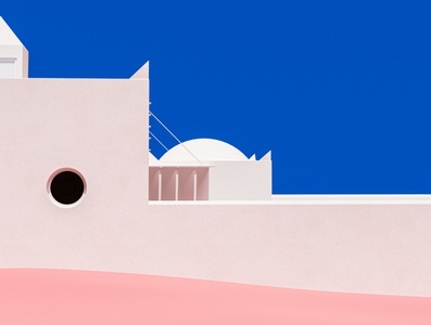 Dá Licença - II summer pink mediterranean vintage blue adobe design abstract cinema 4d render 3d