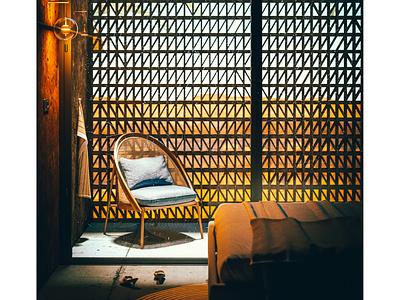 Villa O concrete bed shade geometric shadow balcony chair morq achitecture architecture room hotel interiordesign interior vintage 3d cinema 4d