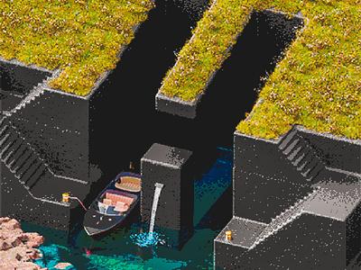 H -  36 Days of Type 08 36daysoftype 36daysoftype08 game gamer arcade game vintage arcade retro 8bit summer abstract cinema 4d render 3d