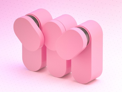 M - 36 Days of Type 08 satisfying smooth mechanical productdesign product pink design adobe colourful abstract cinema 4d render 3d