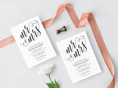 Free Elegant Wedding Invitation Template