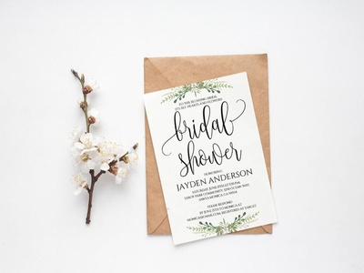 Free Bridal Shower Invitation Template