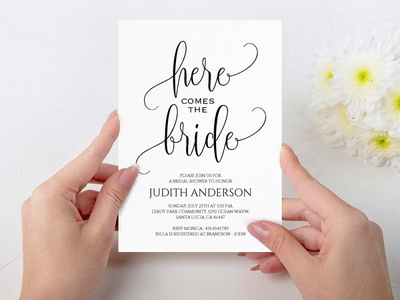 Free Simple Bridal Shower Invitation Template