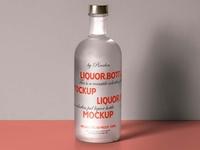 Free Frosted Liquor Bottle Mockup