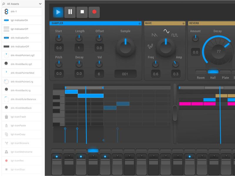 Music Production Ui Kit interface uiux ux music ui
