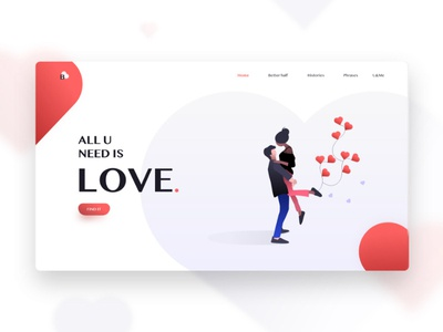 Free Love Website Template