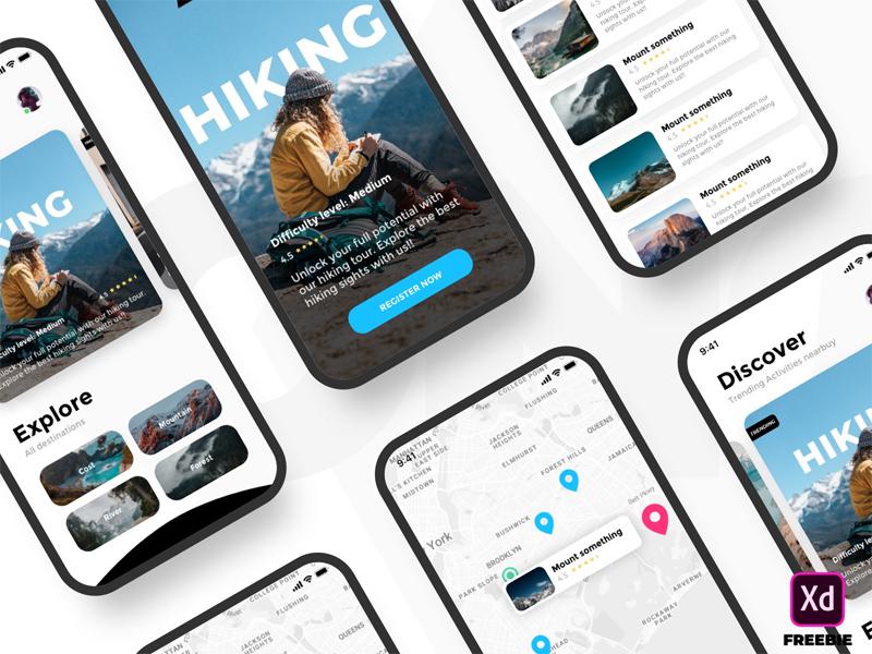 Free Activity App UI Template mobile app mobile ui mobile free apps ui free app app ux uiux freebies freebie ui design interface