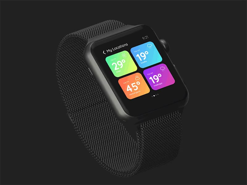Location Screen Smart Watch UI mobile app ux uiux freebies freebie design ui interface
