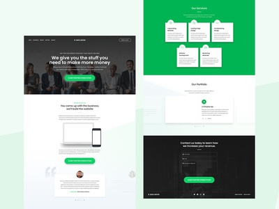 Free Green Website Template