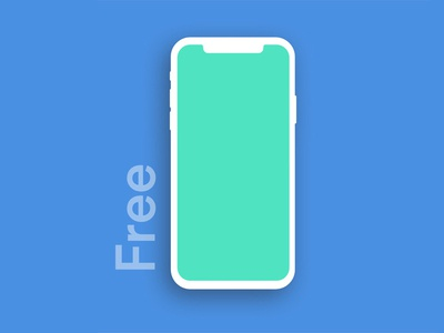 Free Iphone X Mockup  Clay Version