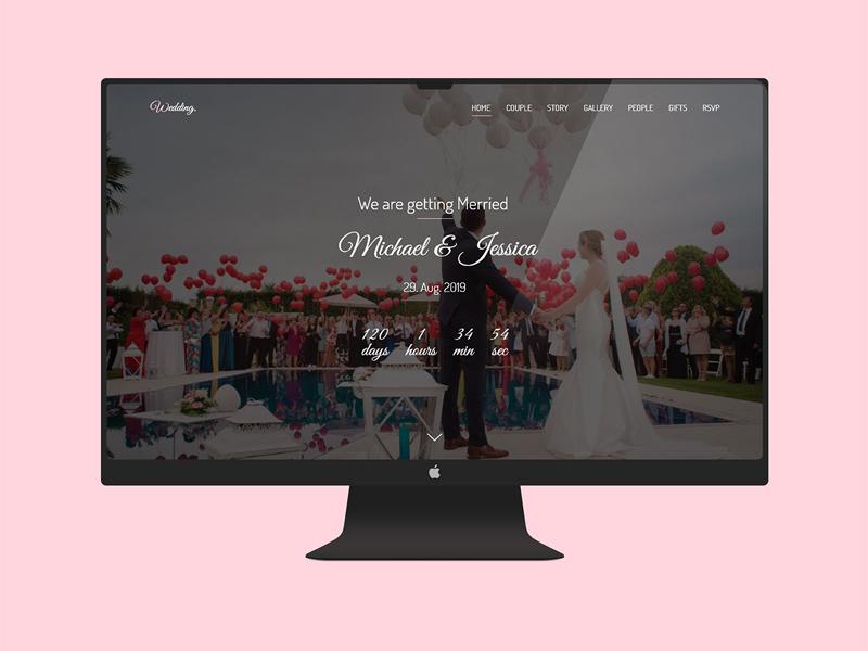 Free Wedding Website Adobe Xd Template website templates website template website builder website concept website design website ui interface design freebies freebie