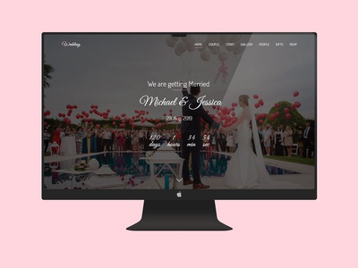 Free Wedding Website Adobe Xd Template
