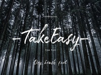 Take Easy - Free Dry brush font