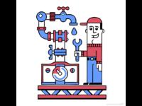 Logo design for a plumbing company logo icon 2d vector repair problem design character illustratie illustrator illustration meter pipeline water mechanic plumber
