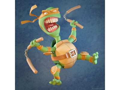 Cowabunga! 🐢 3dmodeling design character illustration artwork 3d teenagemutantninjaturtles turtle ninja mutant teenage tmnt