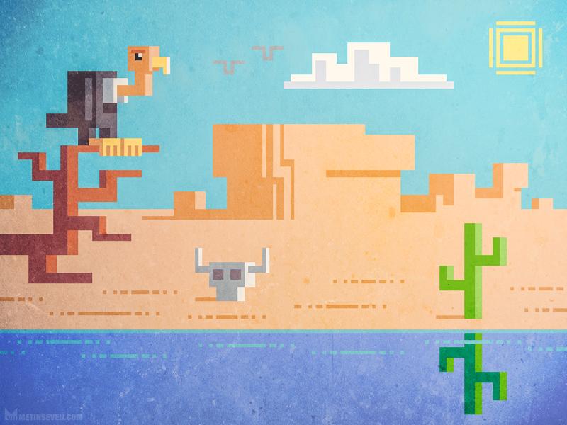 Pixel Desert By Metin Seven On Dribbble