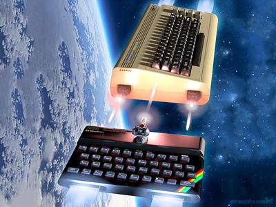 Commodore 64 vs Sinclair ZX Spectrum (detail)