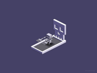 Familiar Face — isometric pixel artwork